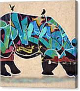 Rhino 2 Canvas Print