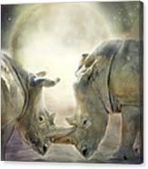 Rhino Love Canvas Print