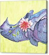 Rhino Whimsy Canvas Print
