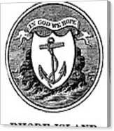 Rhode Island State Seal Canvas Print