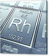 Rhodium Chemical Element Canvas Print