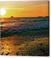 Rialto Beach Sunset Olympic National Park Canvas Print