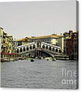 Rialto Bridge Venice Canvas Print