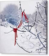 Ribbon In Tree Canvas Print