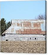Ribbon Roof Barn Canvas Print