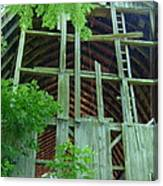 Ribs Of A Decaying Barn Canvas Print