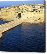 Ricasoli Breakwater At Valletta's Grand Harbor Canvas Print