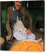 Rice And Bean Seller Canvas Print
