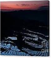 Rice Terrace After Sunset Canvas Print