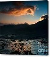 Rice Terrace And Cloud Canvas Print