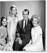 Richard Nixon And Family Canvas Print