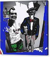 Richard Nixon Masks Uncle Sam Collage  Democratic National Convention Miami Beach Florida 1972-2008 Canvas Print
