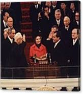 Richard Nixon Taking The Oath Of Office Canvas Print