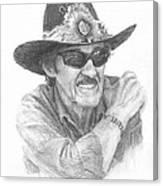 Richard Petty Pencil Portrait Canvas Print