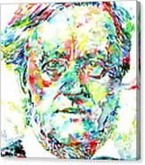 Richard Wagner Watercolor Portrait Canvas Print
