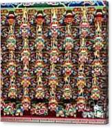 Richly Decorated Temple Ceiling Canvas Print