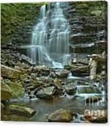 Ricketts Glen Waterfall Canyon Canvas Print