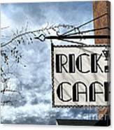 Ricks Cafe Canvas Print