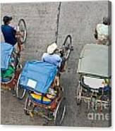 Rickshaw Driver - Bangkok Canvas Print