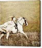 Ride Like The Wind Canvas Print