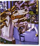 Ride The Wild Carrousel Horses Canvas Print