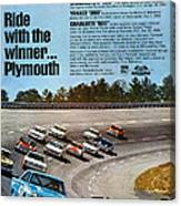Ride With The Winner... Plymouth Canvas Print