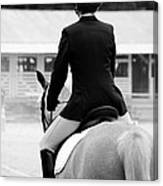 Rider In Black And White Canvas Print
