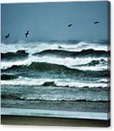 Riders On The Storm 1 - Outer Banks Canvas Print