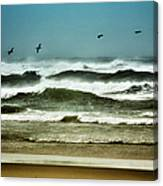 Riders On The Storm II - Outer Banks Canvas Print