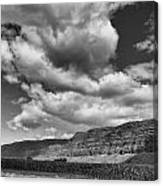 Ridges Black And White Canvas Print