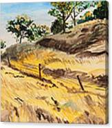 Riding By Back Road  Canvas Print