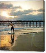 Riding Off Into The Sunset Canvas Print