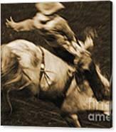 Riding White Knight Canvas Print