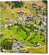 Riederalp Switzerland With Golf Course Canvas Print