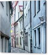 Riga Narrow Street Canvas Print