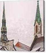 Rigan Steeples Canvas Print