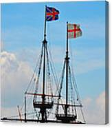 Rigging And Flags Canvas Print