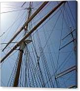 Rigging Of The Constitution Canvas Print