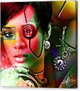 Rihanna Over Rihanna Canvas Print