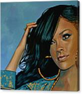 Rihanna Painting Canvas Print