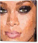 Rihanna Portrait Canvas Print