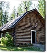 Rika's Barn In Big Delta Historical Park-ak  Canvas Print