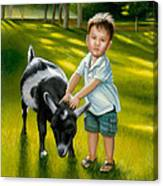 Riley At The Petty Zoo Canvas Print