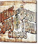 Ringling Brothers And Barnum And Bailey Circus Canvas Print