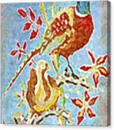 Ringneck Pheasants Canvas Print