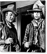 Rio Lobo, From Left, John Wayne, George Canvas Print
