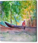 Rio Negro Canoe Canvas Print