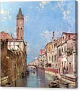 Rio St Barnaba Venice Canvas Print
