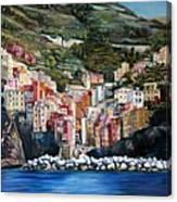 Riomaggiore Glory- Cinque Terre Canvas Print