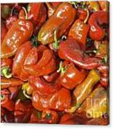 Ripe Red Peppers Canvas Print